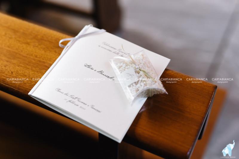 Libretto e portariso, Matrimonio Alessandra&Vittorio