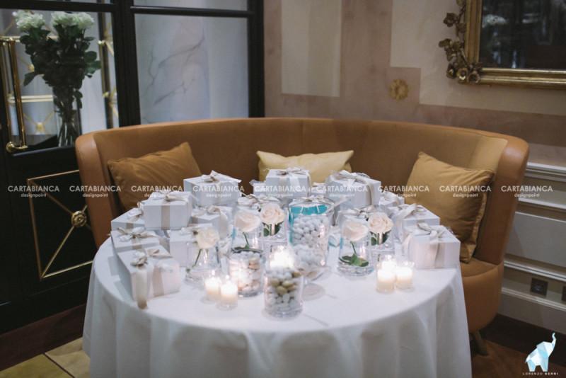 allestimento confettata e bomboniere matrimonio Ale e Vittorio
