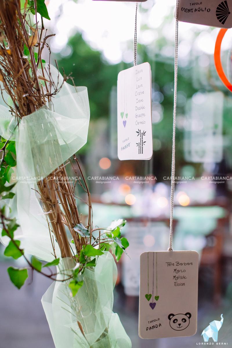 tableau componibile collezione lilla e verde