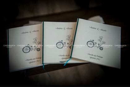 Libretti cerimonia matrimonio in bicicletta
