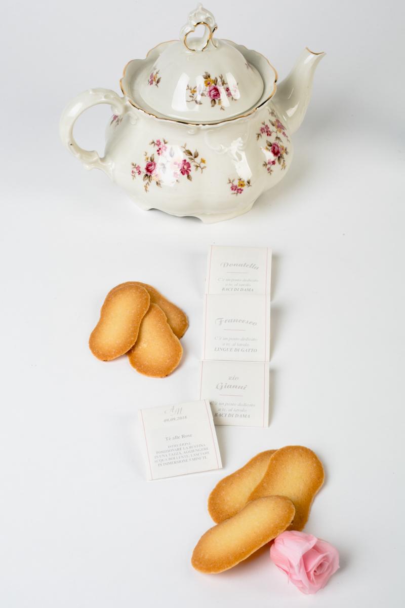 segnaposto bustina del tè collezione tè+me