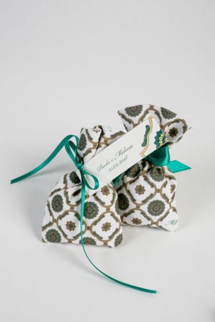 sacchetto portaconfetti stampa personalizzata collezione maiolica