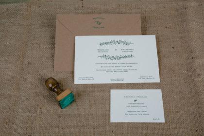 partecipazione, invito e timbro collezione Vischio