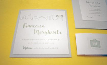 partecipazione sposi Margherita e Francesco