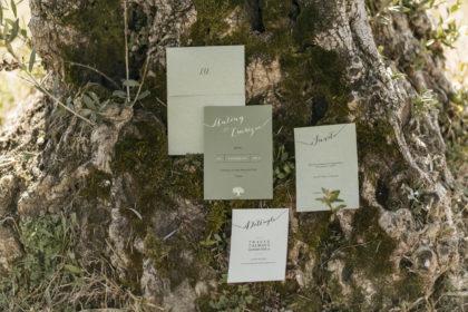 partecipazione, invito e dettagli collezione Toscana
