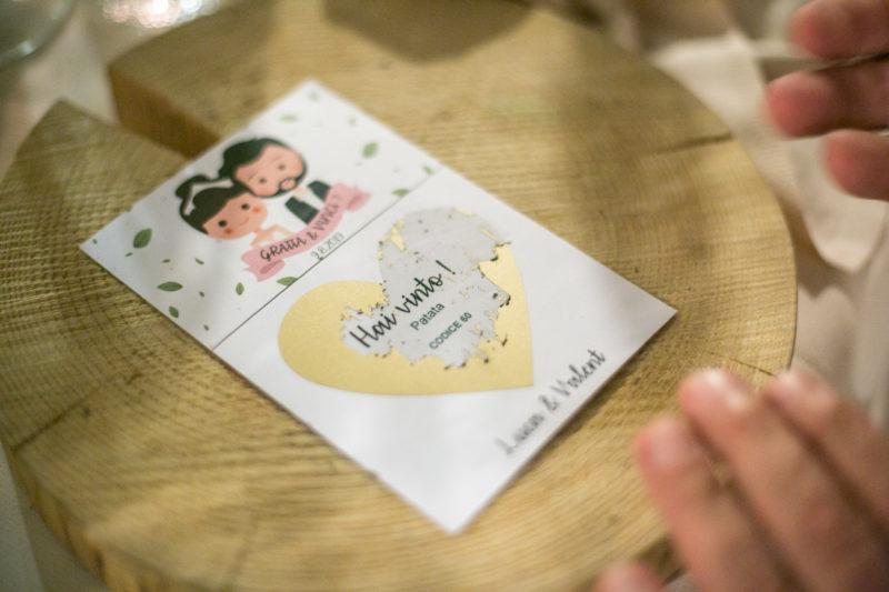Gratta e vinci durante ricevimento nozze