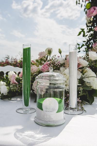 Ampolle Rito della Sabbia, matrimonio Elida e Stefano