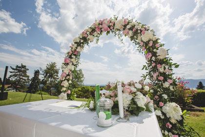 Arco floreale, matrimonio Elida e Stefano