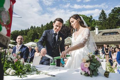 Rito della sabbia, matrimonio Elida e Stefano