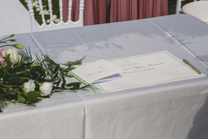 Pergamena firme, matrimonio Elida e Stefano