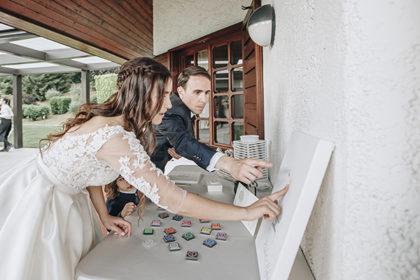 Guestbook impronta su tela, matrimonio Elida e Stefano