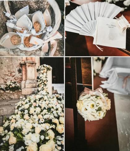 collage fiori e dettagli matrimonio Viviana e Luca