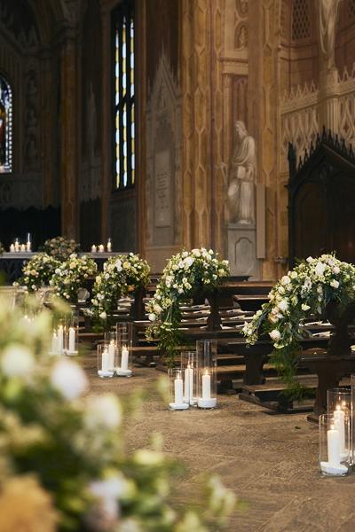 Allestimento Chiesa, matrimonio Ambra e Lorenzo