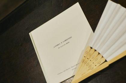 Libretto messa e Ventaglio, matrimonio Ambra e Lorenzo